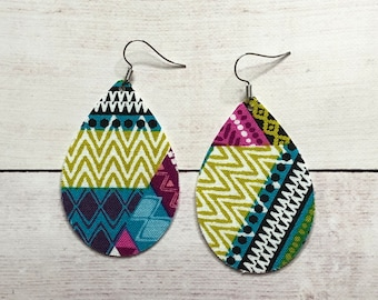 Tribal Rain Drop Earring