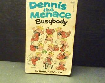 Dennis The Menace Busybody - Hank Ketcham- 1973 paperback book
