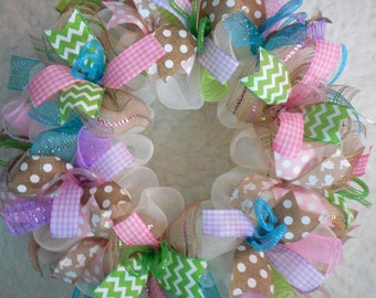 Easter Wreath, Easter Wreaths, Spring Wreath, Spring Wreaths, Easter Decor, Easter Door Hanger, Easter wreath for door,Welcome