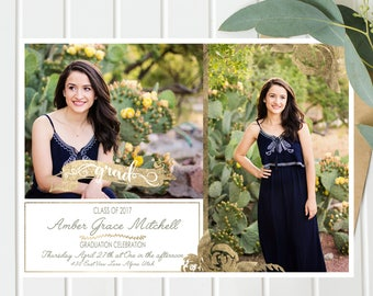 Graduation Announcement Girl - Printable Graduation Invitation- Grad Announcement - Graduation Party Invitation - High School / College Grad