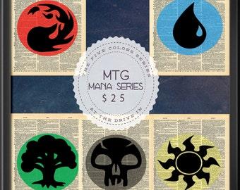Magic the Gathering MTG Mana Symbols Five Colors Elements Series Dictionary Art