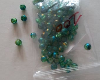 """Lot 100 """"green and blue/gold"""" beautifully colored glass beads"""
