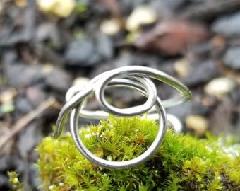 Letter Ring, Letter O Ring, Initial Ring, Initial O Ring,  Personalized Ring, Wire Wrap Ring, Custom Ring, Adjustable Ring, Custom Jewelry