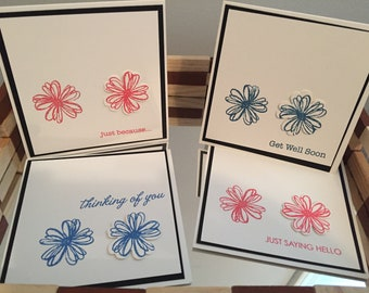 Set of 4 Square Cards