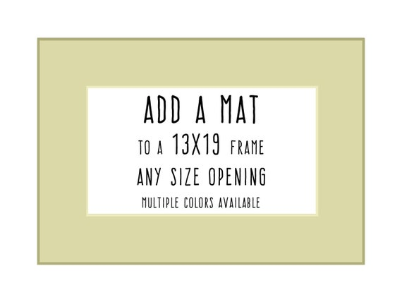Add Matting to a 13x19 Frame, Add-On Item ONLY - Read Description ...