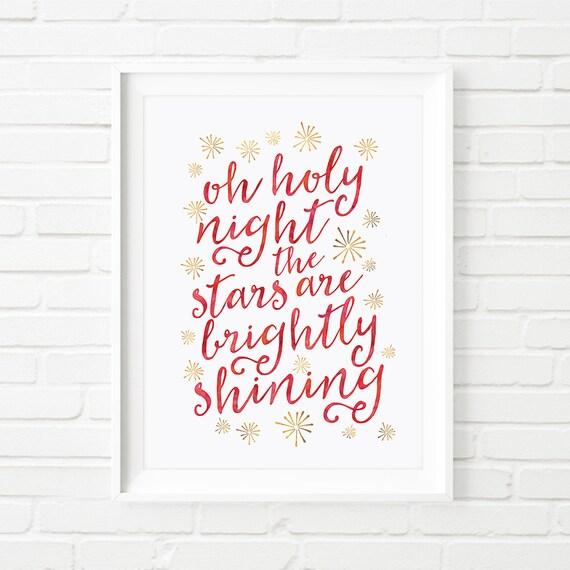 Items similar to Christmas printable, wall art decor 'oh ...