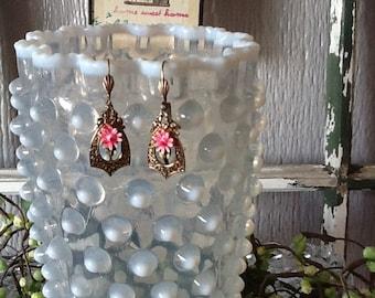 Vintage Repurposed Earrings Signed by ART