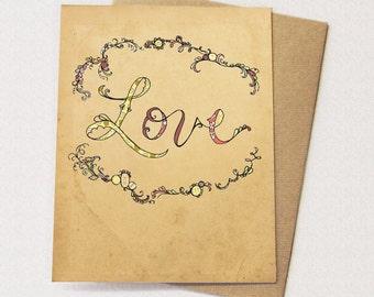 Love Storybook Card - blank inside - love card