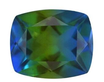 Blue Nile Triplet Quartz Loose Gemstone Cushion Cut 1A Quality 12x10mm TGW 4.90 cts.