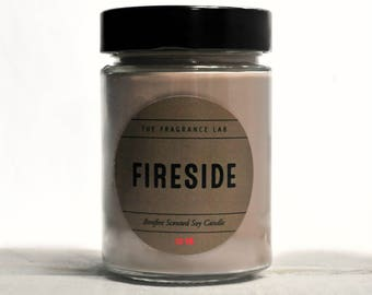 Soy Candles - Fireplace Scented | Bonfire candles | Fire candles | Musk fragrances | Man candles | Winter aromatherapy | Cozy