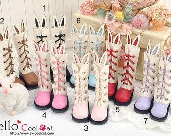 Blythe Pullip Cute Bunny Ears 5 Hole Boots【25-Series】