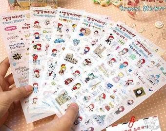 Travel Sticker - 6 Sheets