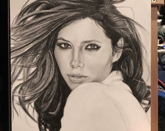 Original Sketch of Jessica Biel (NOT a print)