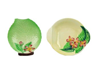 Vintage Carlton Ware Two Little Candy Dishes or Tidbit Bowls  England English Hand Painted Australian Design