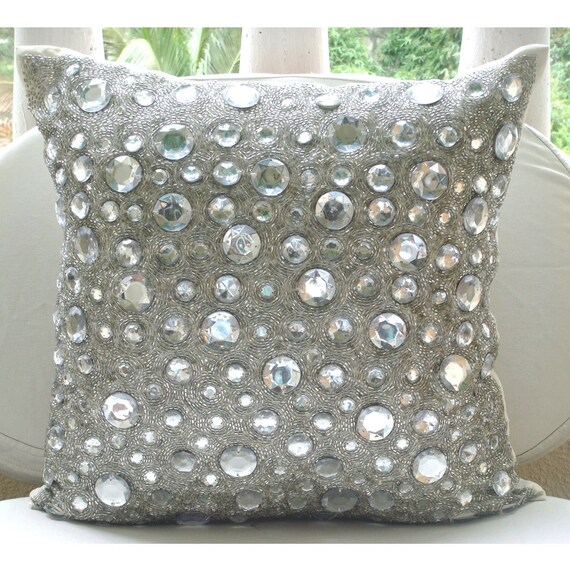 silver throw pillow covers 16x16 silk pillowcase. Black Bedroom Furniture Sets. Home Design Ideas