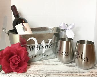 Beautiful wedding gift for the couple! Rustic wedding gift for bridal shower, Mother's Day gift set
