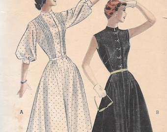 Vintage 1950s Butterick Sewing Pattern 5664 - Misses' Shirtwaist Dress size 15 bust 33
