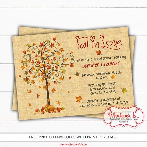 Fall in love bridal shower invitation fall bridal shower filmwisefo Gallery