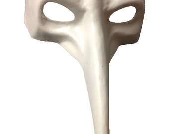 Paint your own Long Nose Casanova Paper Mache Mask with elastic