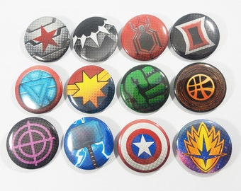 """Marvel Superheroes 1.5"""" Buttons"""