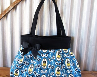 Shoulder Bag with Pockets Large Fabric Purse Halloween Bag Gift for Her Handbags Bags and Purses Gift for Women Machine Washable Made in USA