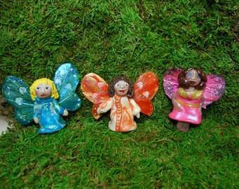 Fairies-Handmade Polymer Clay Fairies-OOAK-Choice of 3 fairies