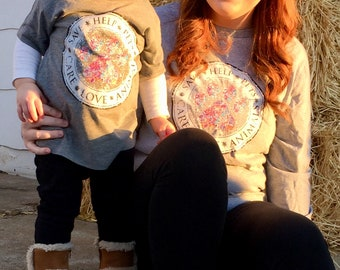 """Adorable Mommy & Me - """"Pet Lovers"""" Tee's, Gray, show you support for all breeds."""
