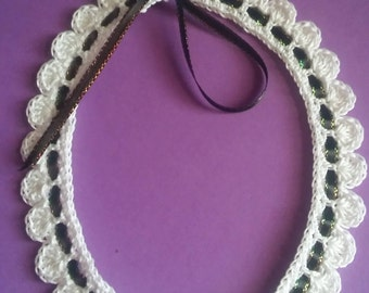 Scalloped Crochet Choker