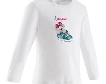 baby Teddy bear personalized with name t-shirt