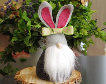 BUNNY Gnome, Nordic Gnome, Gifts for Her, Easter Eggs, Easter Bunnies, Easter Bunny, Easter Baskets, Scandinavian Gnomes, Gnome Home