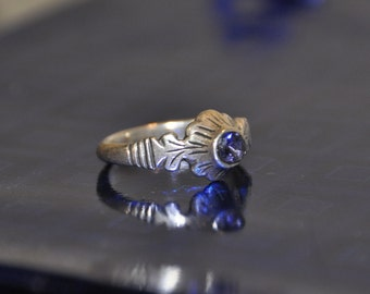 Sterling silver ring with amethyst (The Moscow kingdom, the XVI-XVII centuries)