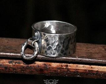 RING - 100% Sterling Silver Ring - Rocker Ring - Handmade Jewelry - Skull Ring