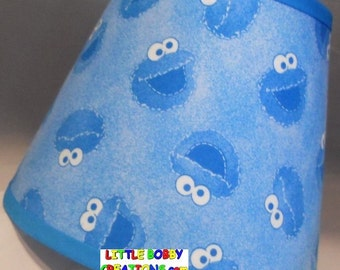Sesame Street Cookie Monster Fabric Lamp Shade (10 Sizes to Choose From!)