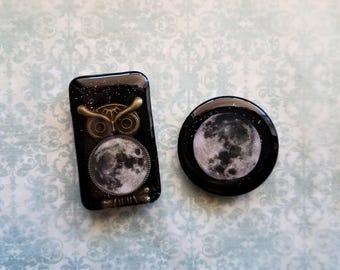 Night owl  resin magnets