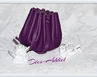 Medieval plum Purple Leather purse