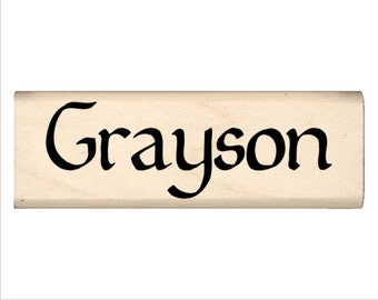 Grayson - Name Rubber Stamp for Kids