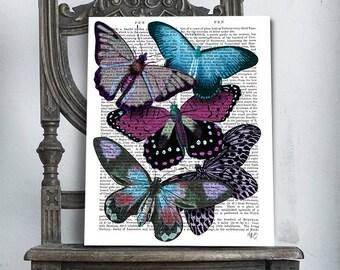 Butterfly art - Big Bold Butterflies 5 - Butterfly print Butterflies decor Butterfly poster Boho chic Bohemian wall decor Boho beautiful
