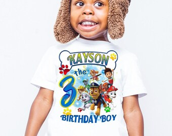 Paw Patrol Birthday shirts, Birthday shirt, Birthday girl shirt, Personalized shirts, shirts for family members, birthday shirts, gift B118
