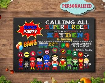 Superhero Invitation / Superhero Birthday / Superhero Party / Superhero Birthday Invitation / Superhero Invite / Superhero Printable / Hero
