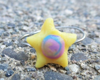 Swirl Star Ring
