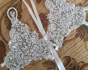 Lace wedding gloves/Bridal gloves/Wedding gloves/Fingerless gloves/Handmade lace gloves/Beaded Bridal Gloves/ Crystal Fingerless Gloves