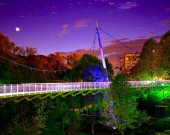 Digital Download Photography - Liberty Bridge Downtown Greenville, South Carolina