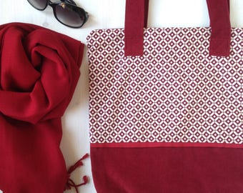 Cotton Tote Bag with zipper