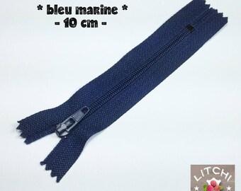 Navy Blue zipper 10 cm