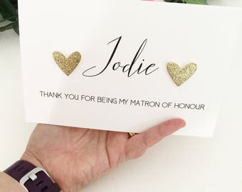Thank You For Being My Matron of Honour Card, Matron of Honor Gift, Matron of Honor Card, Matron of Honor Thank You Gift, Personalised Gift