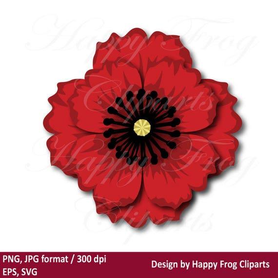 Poppy flower hfc 029 poppy flower template instant mightylinksfo
