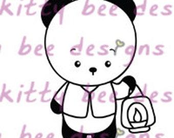 Latern Panda Digital Stamp