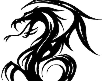 Etched Tribal Dragon