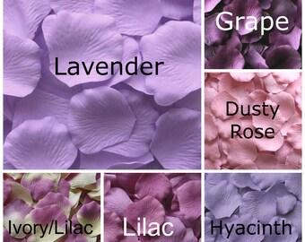 Silk Rose Petals, 1200 Lavender petals