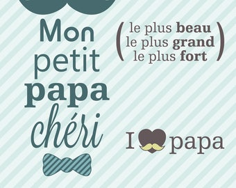 TRANSPARENT CLEAR STAMPS 3 MY DADDY BABY THE MOST BEAUTIFUL LARGE STRONG